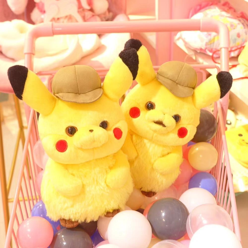 6 ชิ้น/ล็อตภาพยนตร์นักสืบ Pikachu Figures ของเล่น Pikachu รูปคุณภาพสูง Plush ตุ๊กตาเด็กวันเกิดของขวัญของเล่น 28 ซม.-ใน ภาพยนตร์และทีวี จาก ของเล่นและงานอดิเรก บน   3