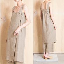 Celmia 2019 verano Casual mujeres Vintage de lino de algodón vestido Sexy  vestido sin mangas de bolsillos de Vestidos Mujer 5XL 9795cebd6cf2