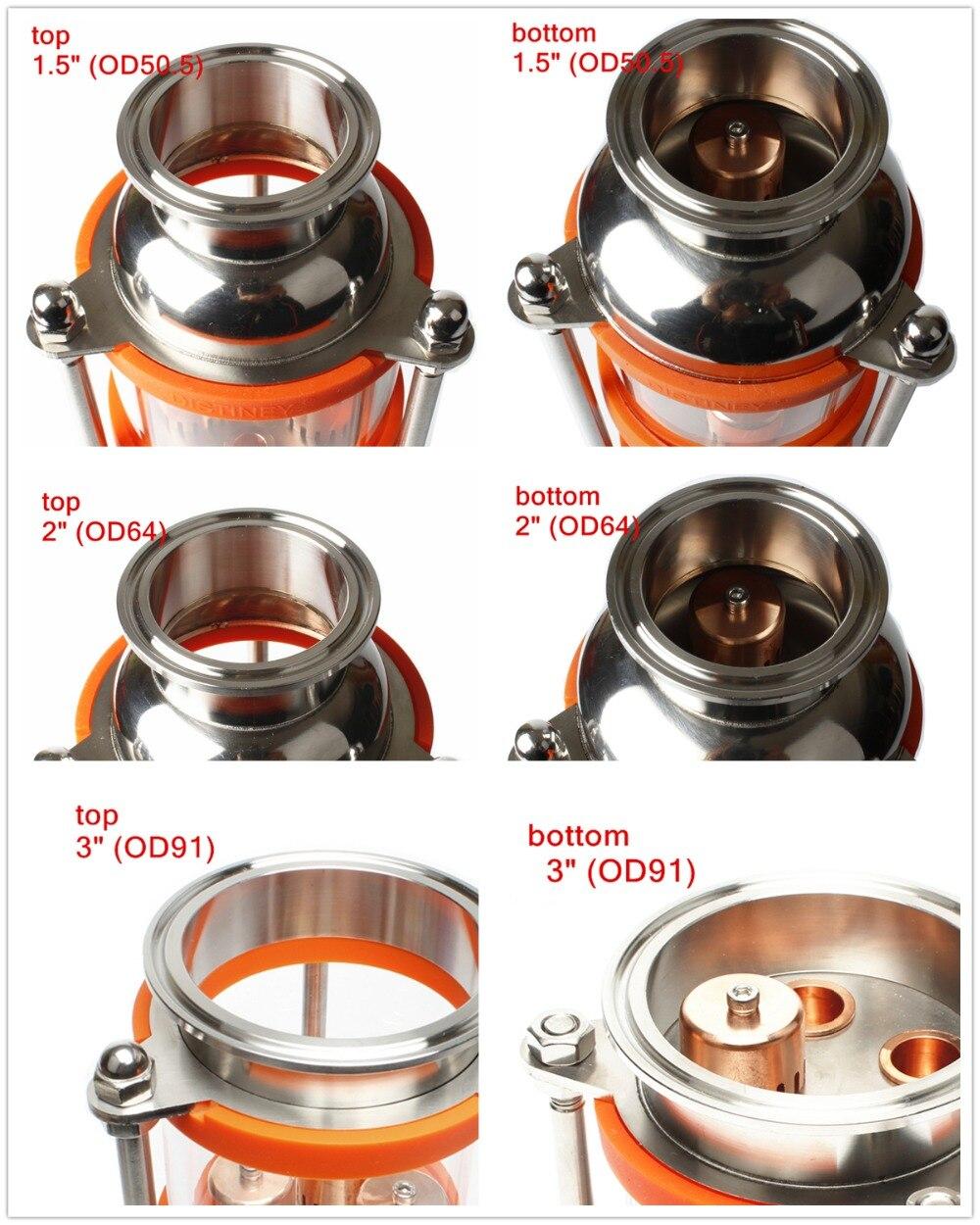 304 สแตนเลสสตีล/ทองแดง bubble กลั่นคอลัมน์ 6 ส่วนสำหรับ distillation แก้วคอลัมน์-ใน เครื่องโม่ จาก บ้านและสวน บน   3