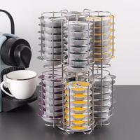 Exquisite Coffee Capsules Organizers Kitchen Organize Storage Rack Stands Revolving Coffee Holder 64 Capsule Stand Display Rack