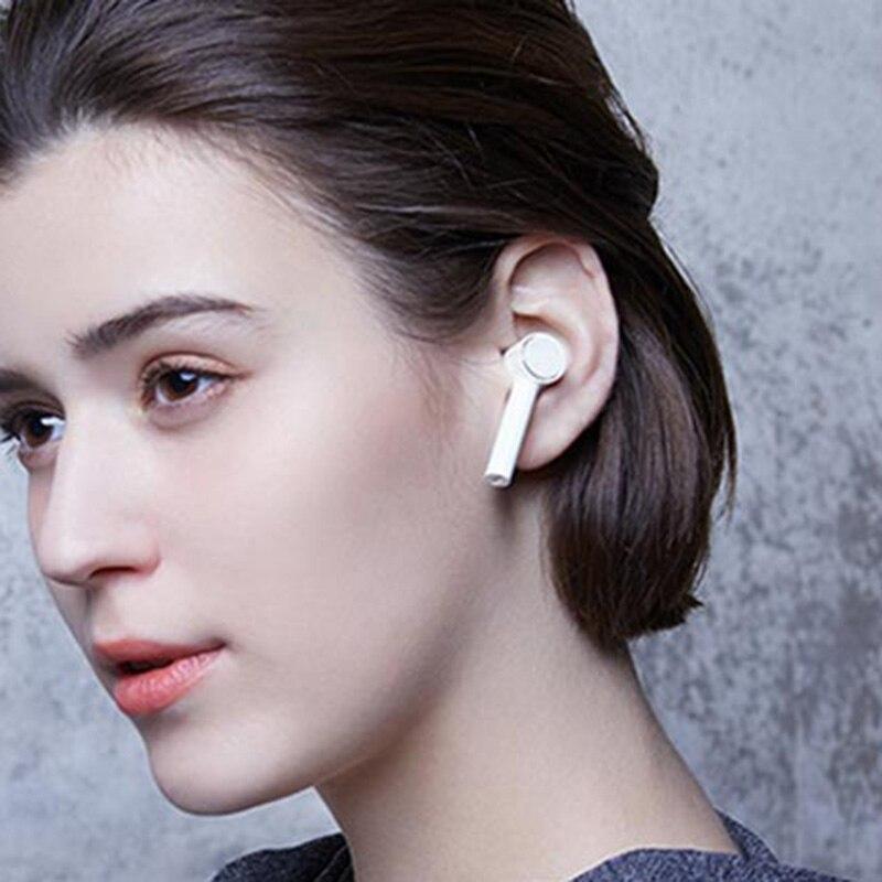Xiao mi ar verdadeiro sem fio bluetooth fones de ouvido hd som redução ruído controle toque twsej01jy bluetooth 4.2 tws airdots pro - 3