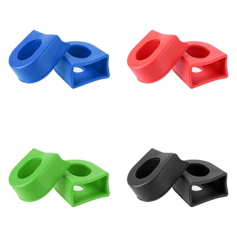 ZTTO 1 Pair MTB Road Bike Crank Protector Silicone Gel Protective Boots Cover