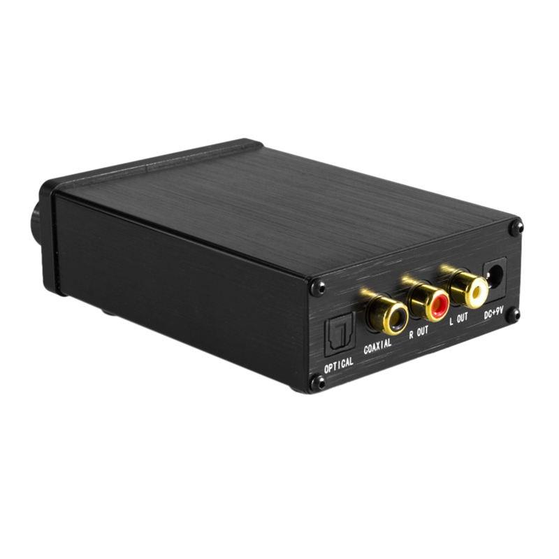 Xu20 Mini Hifi Audio Decoder Amp Support Coaxial Spdif/Optical Input 6.35Mm Earphone Rca Audio Output Amplifier For Tv Dvd(Us