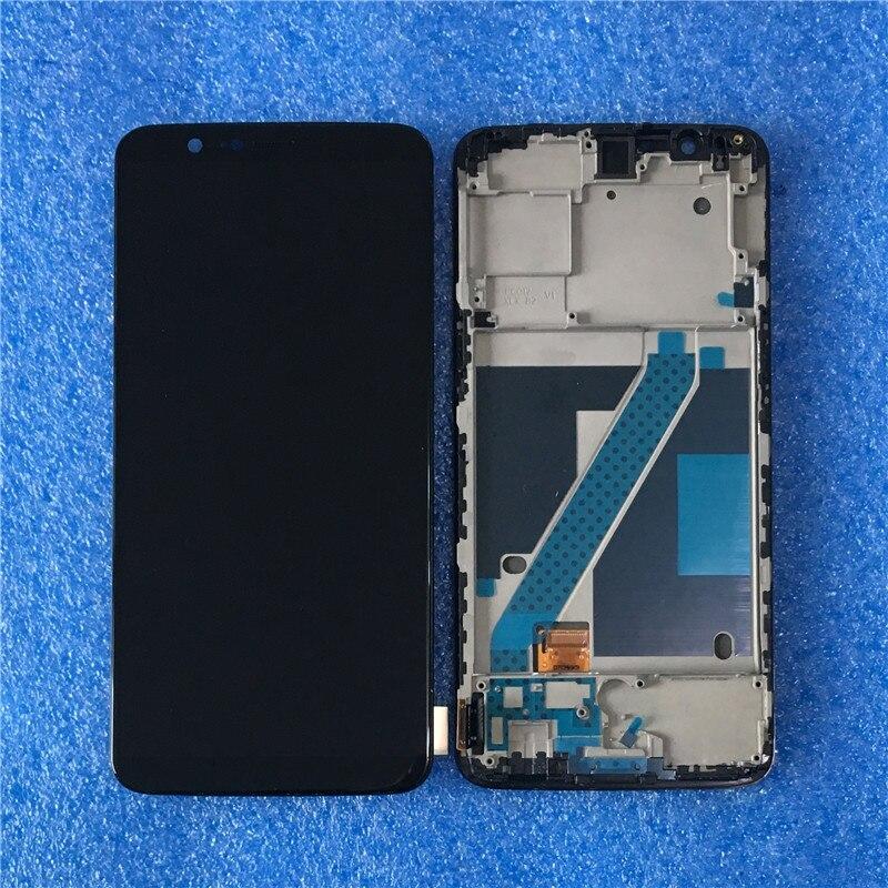 Original Para Oneplus 5 T A5010 Axisinternational Display LCD Tela Com Moldura + Painel de Toque Digitador Para OnePlus 5 A5000 exibição
