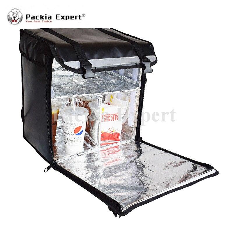 Sac de livraison de nourriture de congélateur isolé par coutume de haute qualité d'usine avec la partie dure gardent la nourriture froide et chaude pour le Scooter