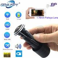 ホット販売ホームセキュリティ 1080 720P の HD H. P2P 1.78 ミリメートルレンズ魚眼 CCTV のぞき穴ドア目の穴の Wifi カメラ TF カードスロットとオーディオ