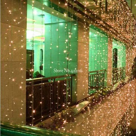 10x 1 10x 3 10x 4 10x5m led natal fadas luzes do feriado guirlanda led