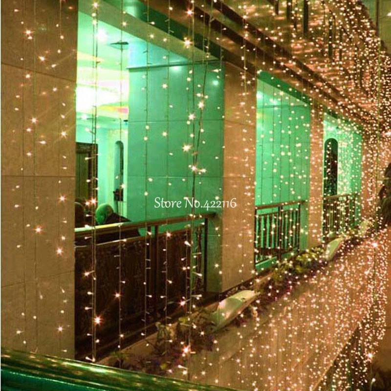 10x1/10x3/10x4/10x5m LED Christmas Fairy Holiday Lights Garland LED STRING Icicle Curtain Lights Party Garden Wedding Decoration