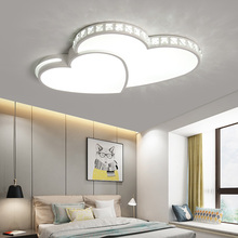 Omicron New Modern Led Chandeliers Heart Shape For Living Room Bedroom Dining Dimming Fixture Chandelier Ceiling Lamp