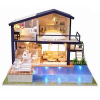 DIY Cottage Hut Small Doll House Wooden Manual Assembly Home Decoration Holiday Birthday Gift Time Apartment
