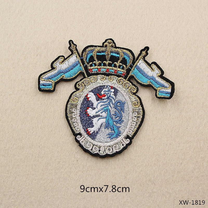 PGY una corona alas tigres militar insignia de Metal Retro Fabri hombro Junta insignias ejército Pin broche medalla hecho a mano insignias