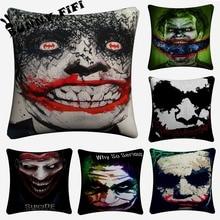 Joker Decorative Pillow Covers For Sofa Home Decor Linen Cushion Case 45x45cm Throw Pillow Cases цены