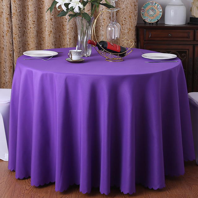 Washable Round Tablecloth – Solid Color