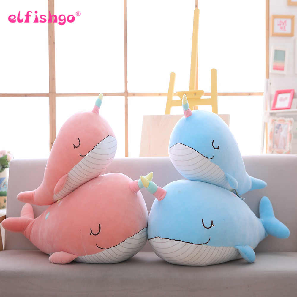 60cm/80cm Unicorn Shark Plush Narwhal Toys Cute Stuffed Doll Whale Plush Pillow Kids Toys Birthday Gift For Children /Girlfriend