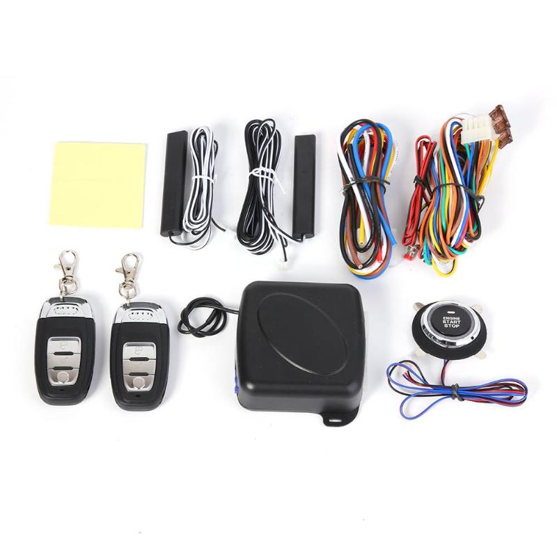 9 pièces/ensemble voiture électronique alarme antivol voiture SUV sans clé entrée moteur démarrage système d'alarme bouton poussoir démarreur à distance arrêt ensemble