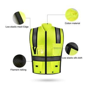 Image 3 - SFVest Hoge Zichtbaarheid Reflecterende Veiligheidsvest Reflecterende Vest Multi Pockets Werkkleding Security Werken Kleding Veiligheid Vest