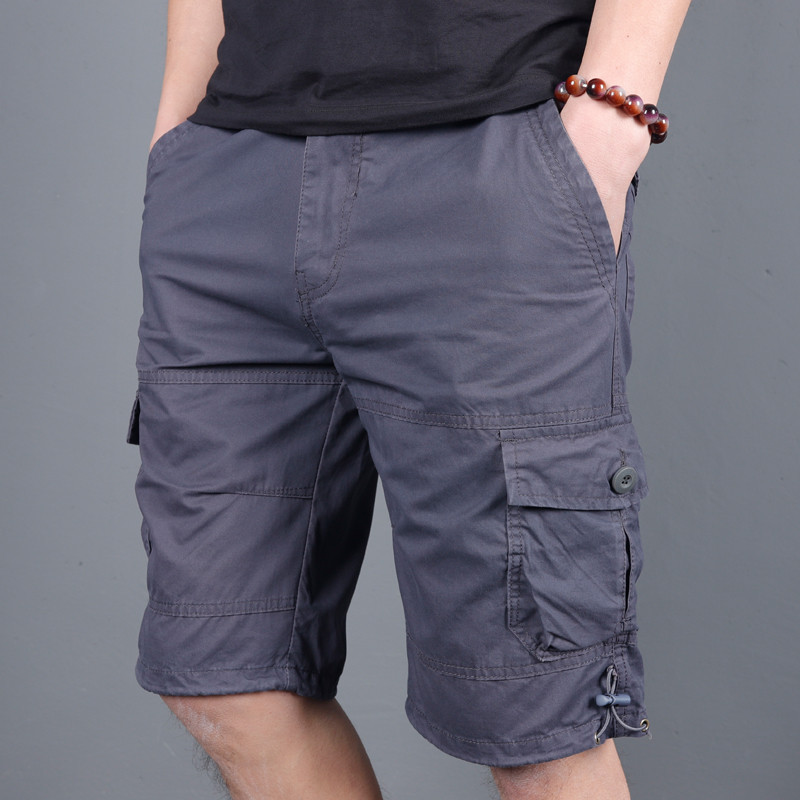 5XL Men's Summer Cotton Straight Beach Shorts Outdoor Camping Sports Climbing Multi-pocket Loose Military Tactical Short Trouser