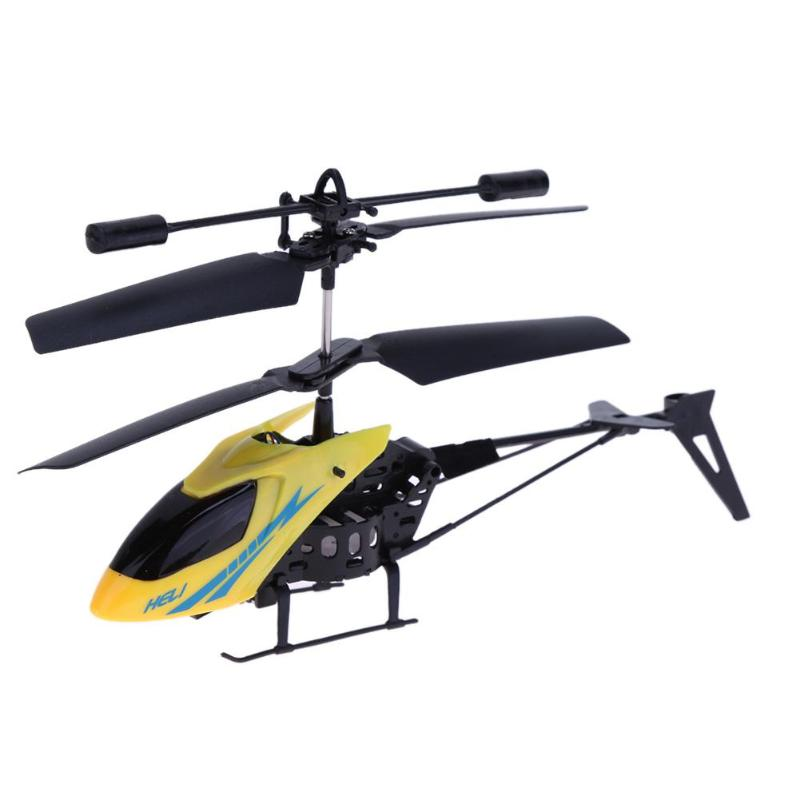 Mini Cool 2CH RC Helicopter For Kids Infrared Remote Control Toys 10-15m Ideal Crash Resistant Gift For Boys Kids Red Yellow