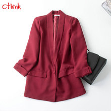 Good Quality One Button Solid Blazers Women Fashion Single Red Black Casual Suit Woman Stylish And Jackets