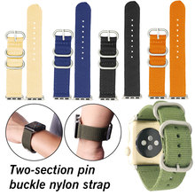New Colorful Soft wrist band nylon watchband belt  Replacement Watch Band Sport Loop Nylon bracelet