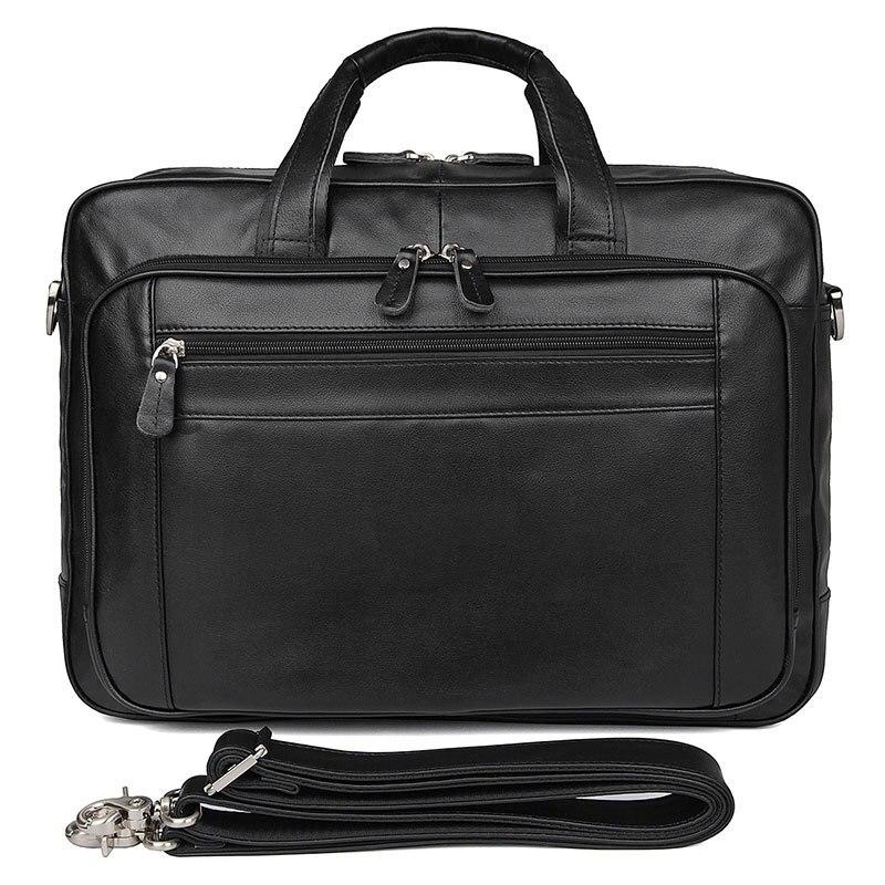 17 Zoll Männer Leder Business Tasche Top Schicht Leder Aktentasche 725-40 Große Handtasche Computer Tasche Männer Messenger Aktentasche Tasche Neueste Mode