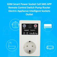 GSM Intelligent Power Socket Call SMS APP Remote Control Switch Pump Router Electric Appliance Intelligent Sockets