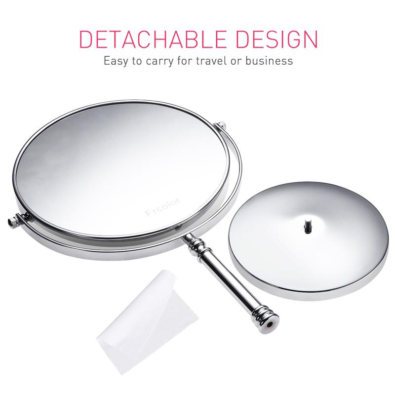 Image 4 - 8 Inch 10X Magnifying Mirror Double sided Makeup Mirror Clear 360°Rotation Easy Cleaning Desktop For Makeup Cosmetic Beauty ToolMakeup Mirrors   -