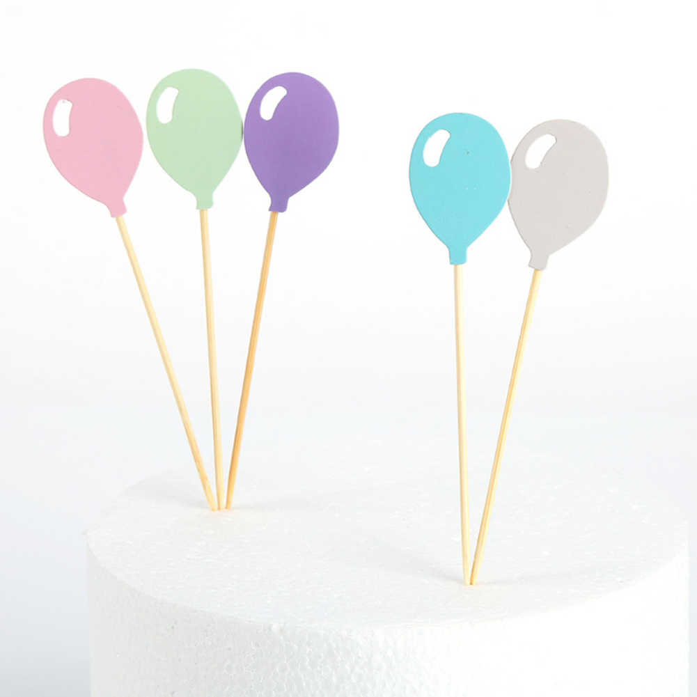 5PCS เค้ก Topper โกลเด้นสีน่ารักกระดาษ Cupcake Topper Happy Birthday Party ตกแต่งเด็กแต่งงานเค้ก Toppers