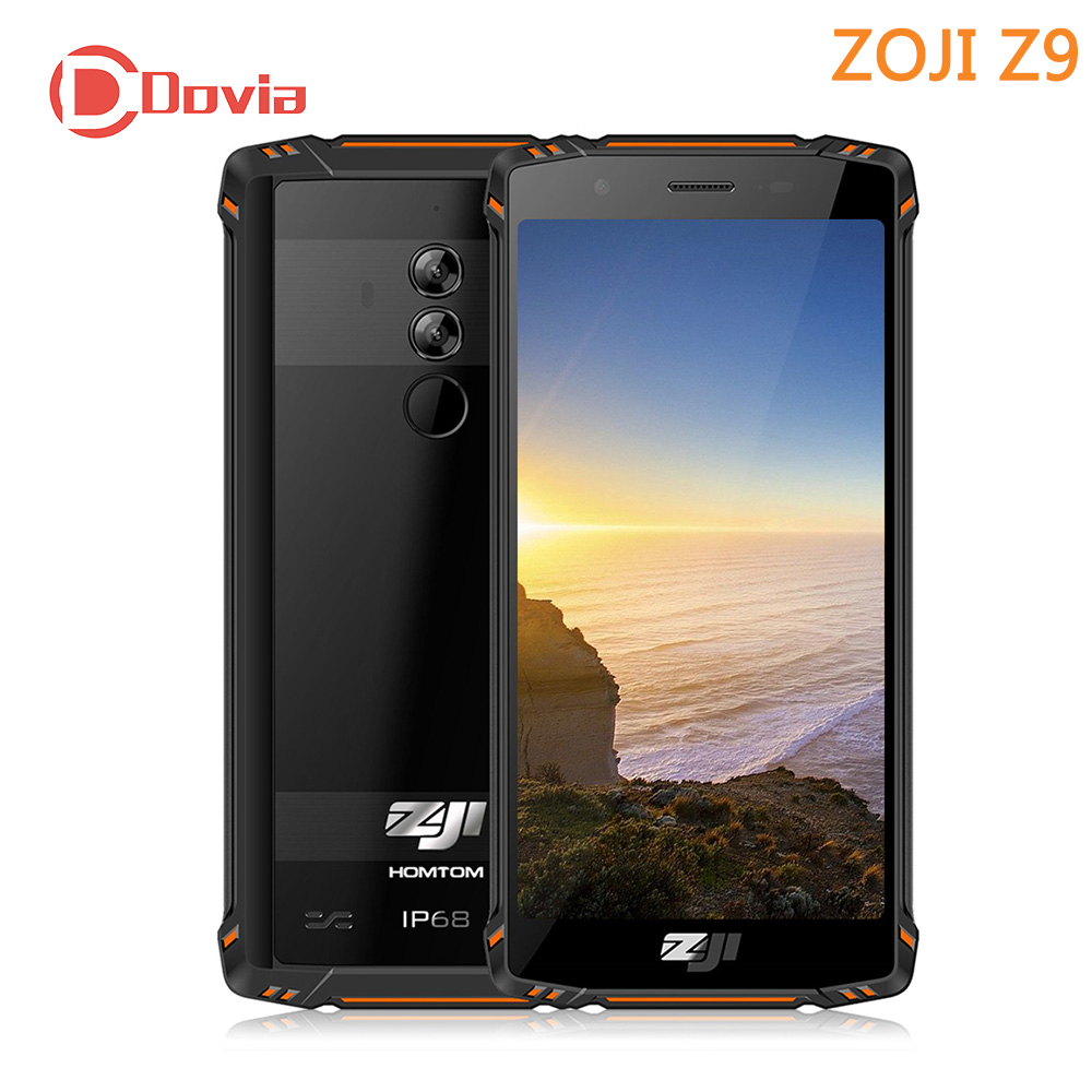 HOMTOM ZOJI Z9 IP68 4G téléphone portable 5.7 Helio P23 Octa Core 6 GB RAM 64 GB ROM 16.0MP retour-caméra 5500 mAh