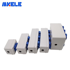 Image 3 - Plastic Universal Waterproof Socket Box Household Socket Junction Box Outdoor Rainproof  Box With Cable Glands Wire Connectors