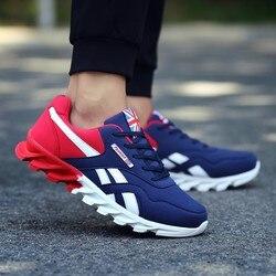 2019 Venta caliente al aire libre zapatos planos para correr deportivos para hombre zapatillas de hombre cómodas de marca masculina para adultos zapatillas de malla