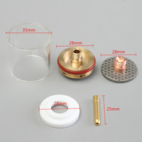 1Set 5PCS 1.0/2.0/1.6/2.4/3.2mm TIG Welding Torch Gas Lens Pyrex Cup Kit For WP 9 20 Series