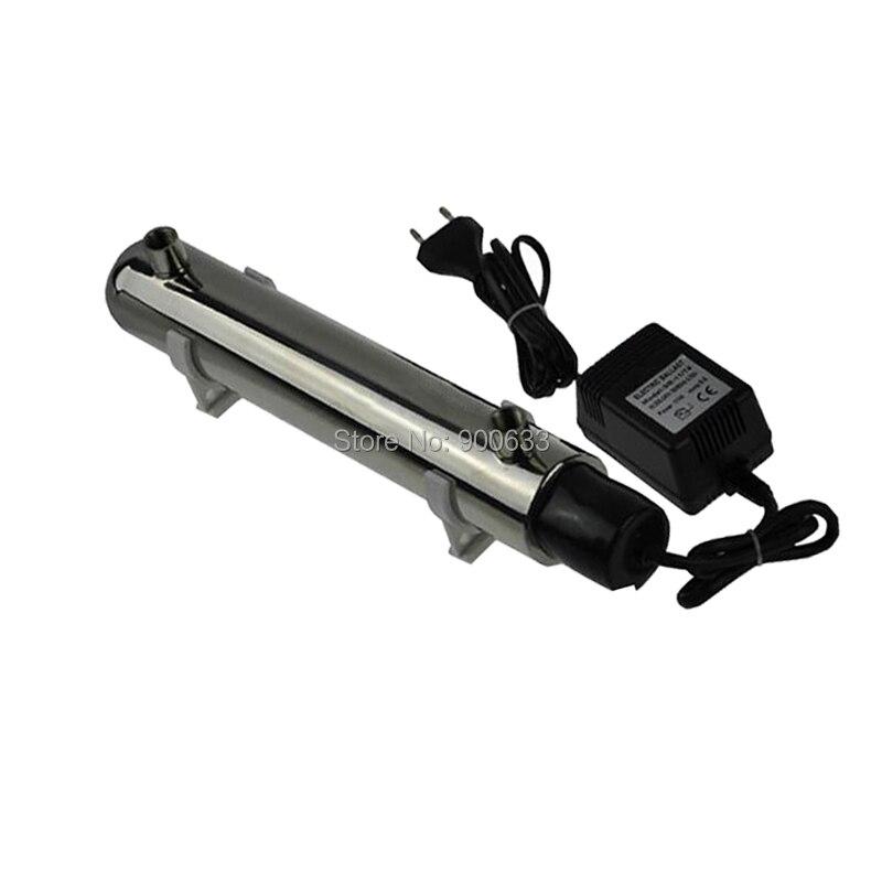 Lampe UV de Tube de désinfection d'ultraviolet pour le stérilisateur de l'eau 220 V 12 W 1GMP avec la UV-1.0G 304 d'acier inoxydable