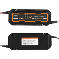 6V/12V 5A Smart Car Battery Charger Portable Full Automatic Battery Charger & Maintainer for Car Motorcycle Van SUV Accessories