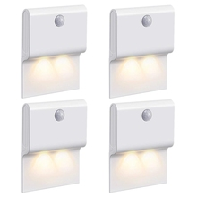 Motion Sensor Night Light, 2-Led Wireless Hanging Wall Lamp, Stick Anywhere, Auto On/Off Pir Detection For Hallway, Stai