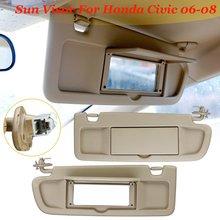 For Honda For Civic For Coupe Sedan 2006 2007 2008 Car Side Sunvisor  Sunshade Sun Shield e5eb583220d