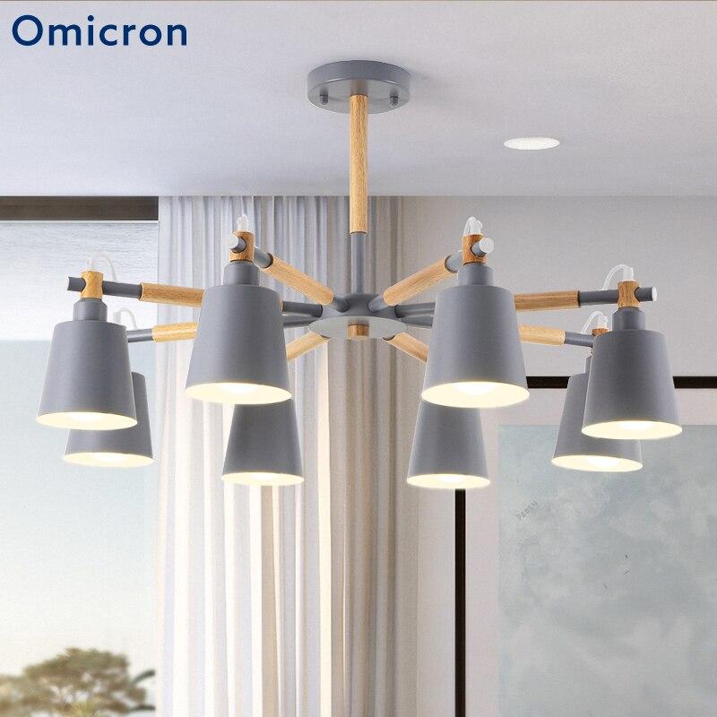 Post-moderne Led Hanglampen Ijzer Hout Zes Kleuren Energiebesparende Led Lampen Voor Woonkamer Slaapkamer Thuis Decor LightsPost-moderne Led Hanglampen Ijzer Hout Zes Kleuren Energiebesparende Led Lampen Voor Woonkamer Slaapkamer Thuis Decor Lights