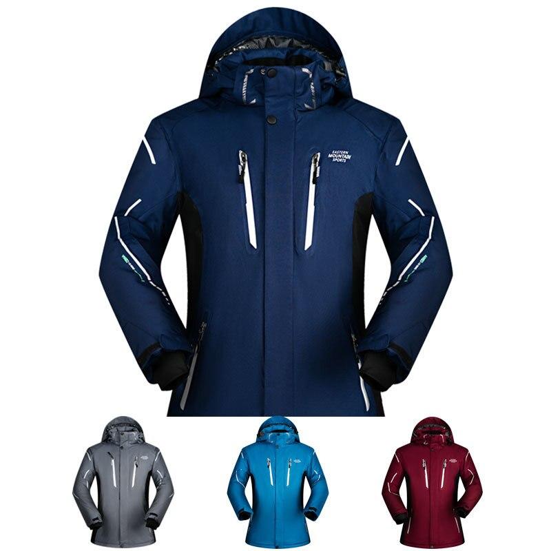 -30 Degree New Brand Men Ski Outdoor Waterproof Windproof Thicken Super Warm  Snow Clothes Coat Winter Snowboard Skiing Jacket