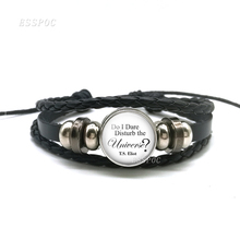 T S Eliot Literary Jewelry Quote Black Bracelet ,Do I Dare Disturb The Universe Glass Cabochon Bracelet Women Charm Bracelet t s eliot t s eliot reads the waste land four quartets and other po