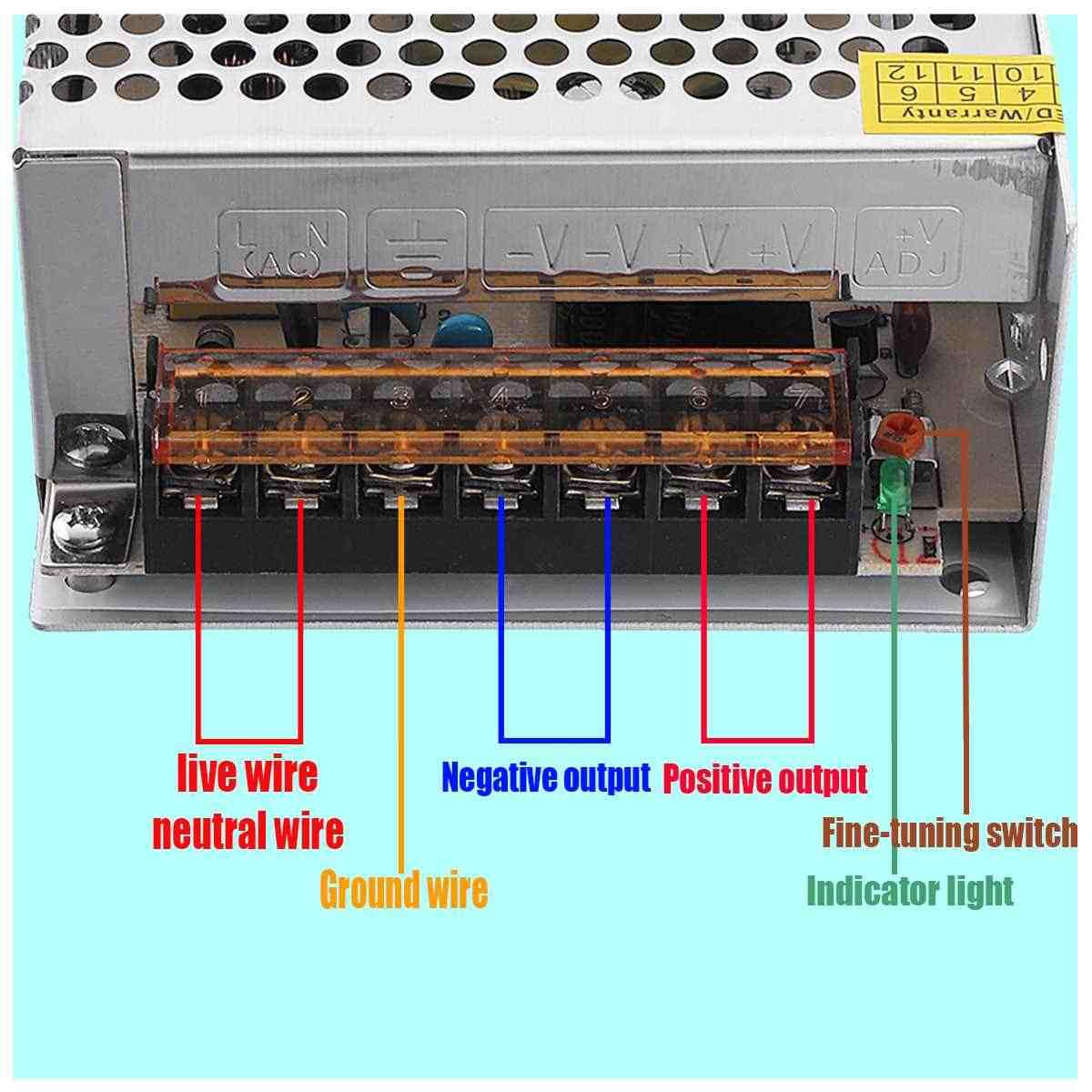 DC 12 V zasilacz impulsowy sterownik do taśmy LED Adapter 12/15/24/36/48/60 /72/100/120/150/180/200/240/300/400 W mocy dostaw