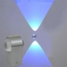 Modern 2W/6W led wall light Lamparas pared Up Down double sided crystal sconce Indoor decorative lamps AC85-265V
