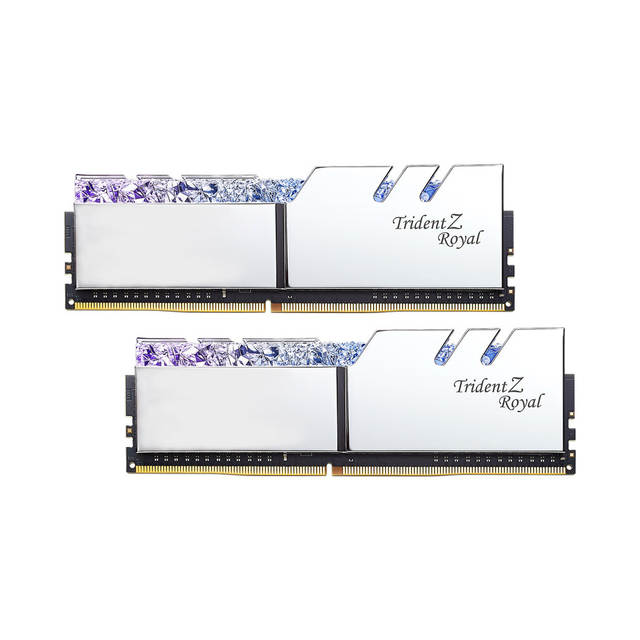US $703 62 47% OFF|G SKILL Trident Z Royal Series High Class RGB  Performance DDR4 Memory 32G(16Gx2) 3200MHz(F4 3200C16D 32GTRS) Silver-in  RAMs from