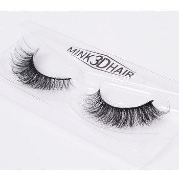1 Pair 3D Mink False Eyelashes Pure Manual Eyelashes Makeup Maquiagem Lashes Make up Beauty Faux фото