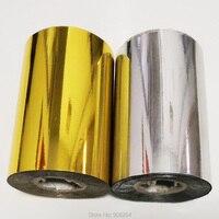 Бесплатная доставка 2 рулона (золото и slilver) Горячая фольга штамповочная бумага теплопередача анодированная позолоченная бумага с доставко...