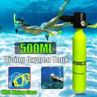 500ML Air Tank Mini Scuba Diving Equipment Spare Diving Glass Breath Underwater For Diving Enthusiast Oxygen Tank Snorkels
