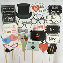1 Set Party Supplies Funny Photo Booth Prop Tie Moustache Style Props Accessories