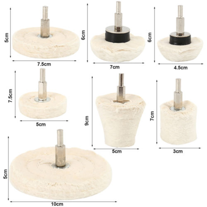 10pcs Cone Polishing Mop Buffing Wheel Pad Kit for Drill Grinder Metal Jewelry Polish Pad Polish Buffing Wheel