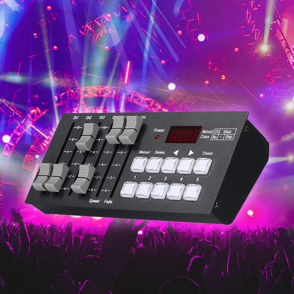 DJ Club Party Show Mini DMX512 Console Stage Light Controller Rechargeable Battery Portable for Party Concert