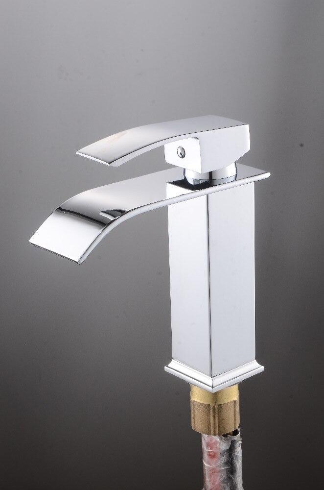 Robinets salle de bains évier bassin en laiton robinet cascade robinet d'eau robinet lavabo moderne mélangeur mitigeur robinets - 3