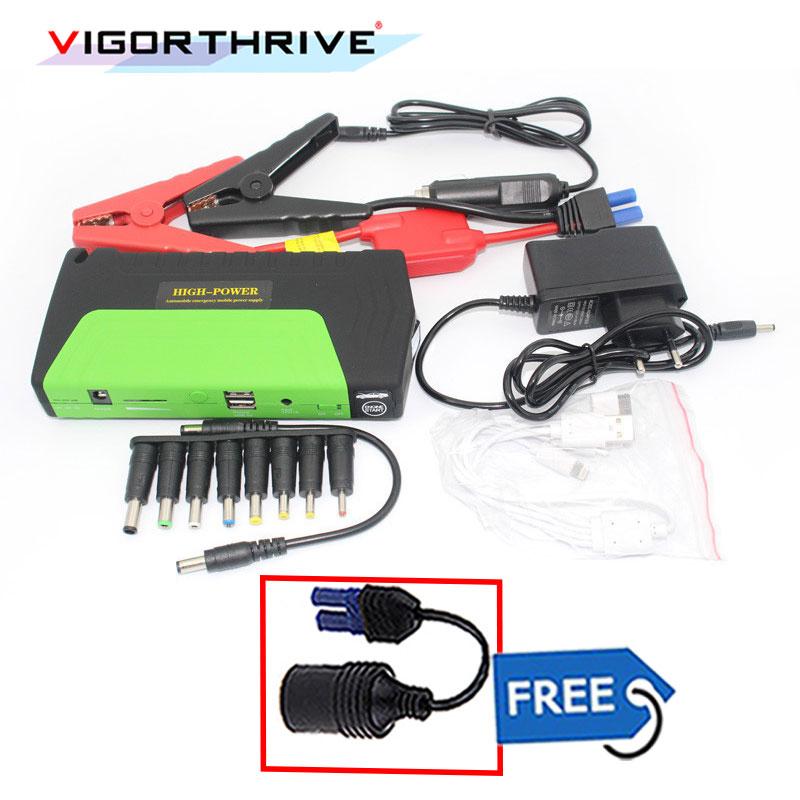 Portable Power Bank Car Charger Mini Emergency Starting Device booster for Petrol car 600A battery 12V starter Car Jump Starter стоимость